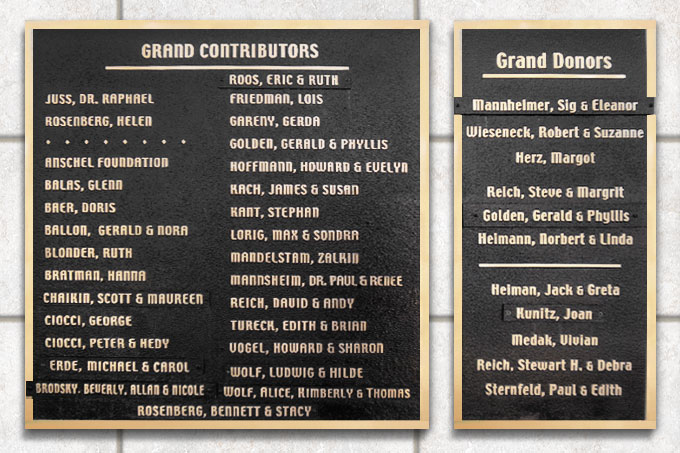 New Light Cemetery Grand Contributors and Grand Donors
