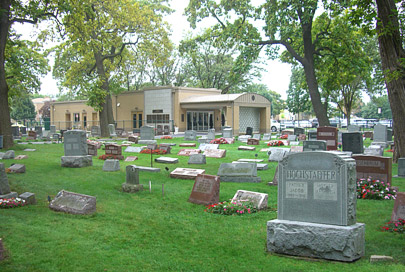 Southwest view of New Light Cemetery