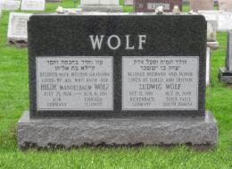 New Light Cemetery Ludwid and Hilde Wolf gravesite