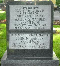 New Light Cemetery Mander gravesite