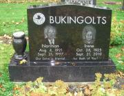 New Light Cemetery gravesite for Bukingolts