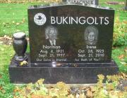 New Light Cemetery gravesite for Bukingolts