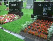 New Light Cemetery gravesites for Gruen