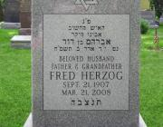 New Light Cemetery gravesite for Fred Herzog