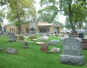 Southwest view of New Light Cemetery in Lincolnwood
